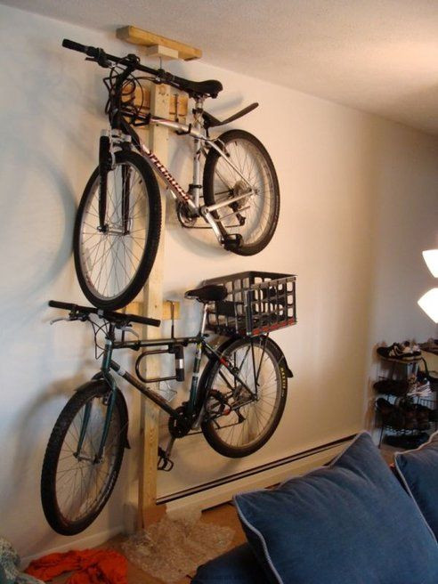 Best ideas about DIY Hanging Bike Rack . Save or Pin Hang Your Bike The Wall With Mike Sapak s DIY Bike Rack Now.