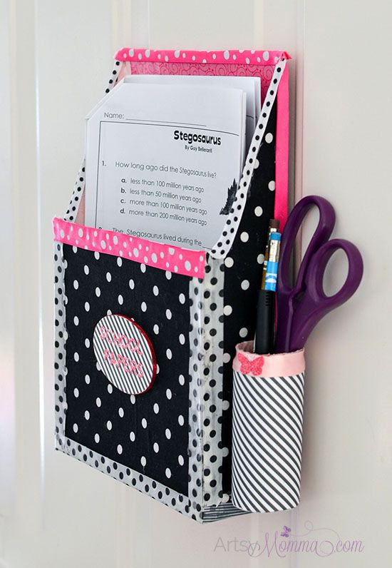 DIY Hanging Organizer  DIY Magnetic Hanging Homework Holder – Cute Decor Project