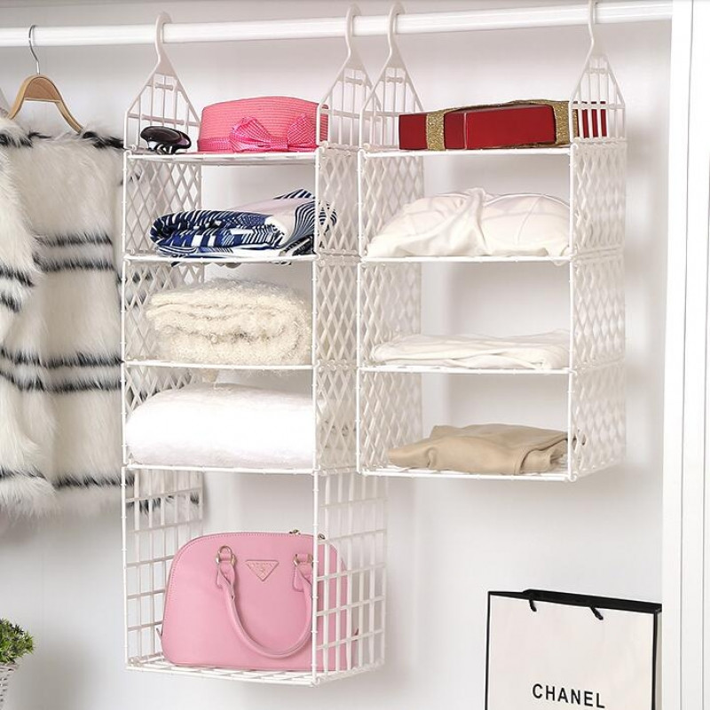 DIY Hanging Organizer  Buy Home Shoe Rack Shelf Storage 7 Tier Closet Organizer