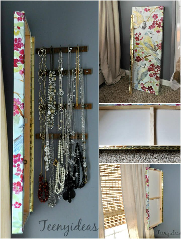 DIY Hanging Organizer  100 DIY Jewelry Organizers & Storage Ideas Full