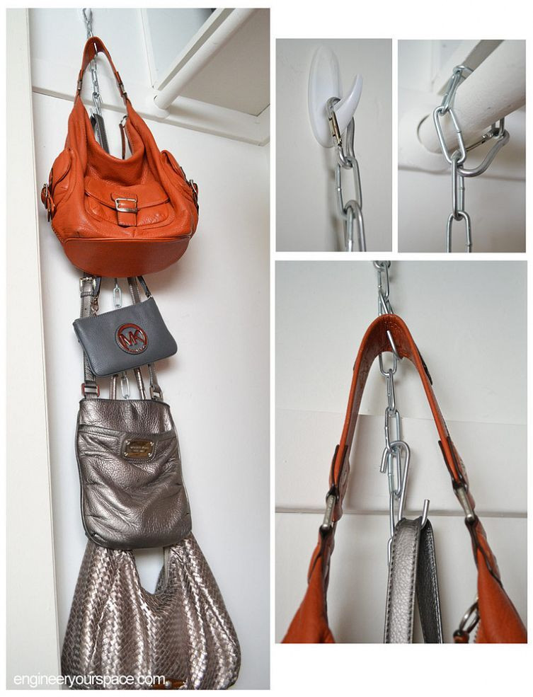 DIY Hanging Organizer  DIY Hanging Purse Organizer