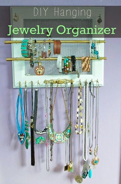DIY Hanging Organizer  DIY Hanging Jewelry Organizer