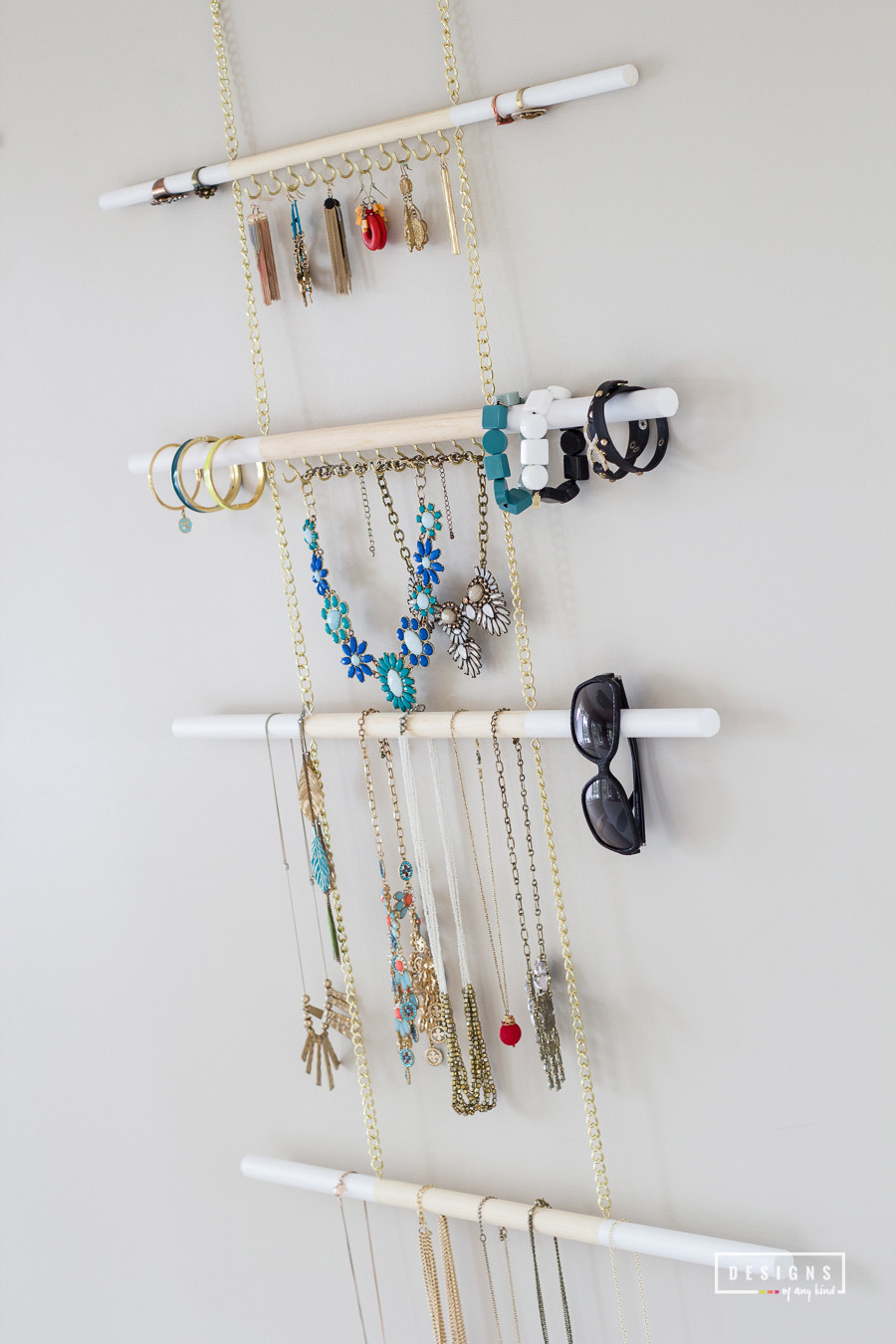 DIY Hanging Organizer  DIY Modern Hanging Jewelry Organizer Designs of Any Kind