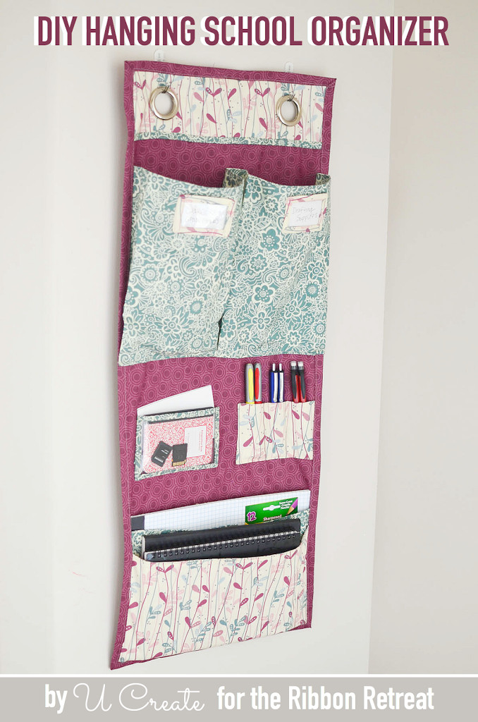 DIY Hanging Organizer  School Supply Organizer Tutorial U Create