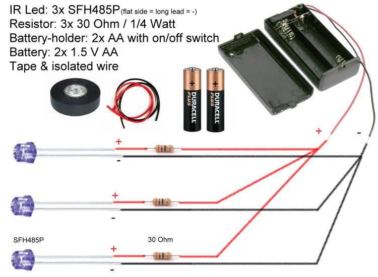DIY Head Tracking  FreeTrack kit set with Osram SFH485P LED shop