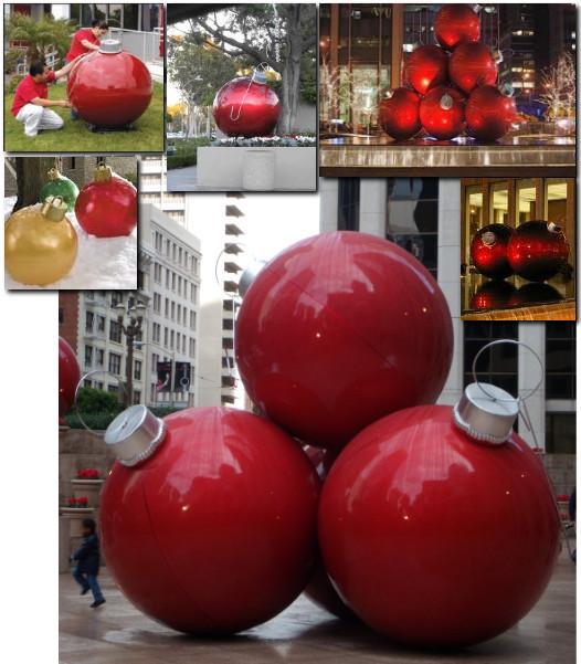 DIY Huge Ball Christmas Ornaments  Giant bulb outdoor christmas lights ornaments