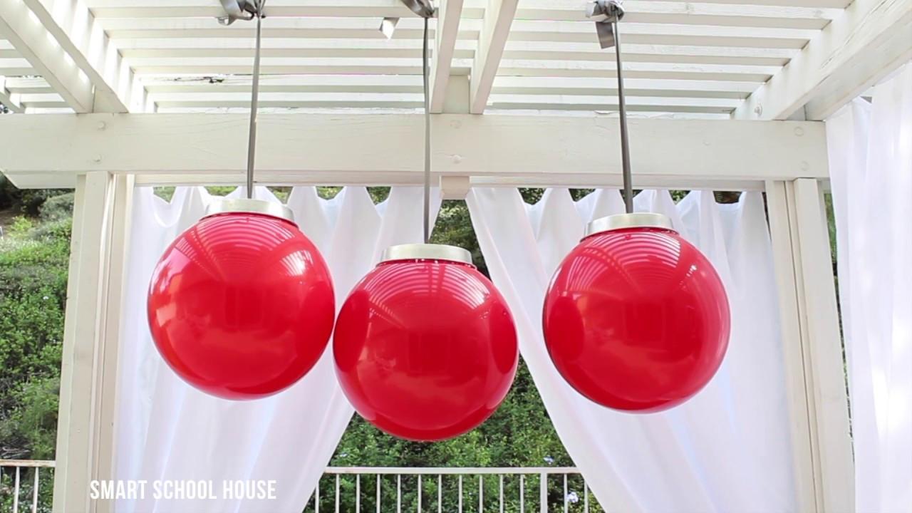 DIY Huge Ball Christmas Ornaments  How to Make Giant Christmas Ornaments with a Ball