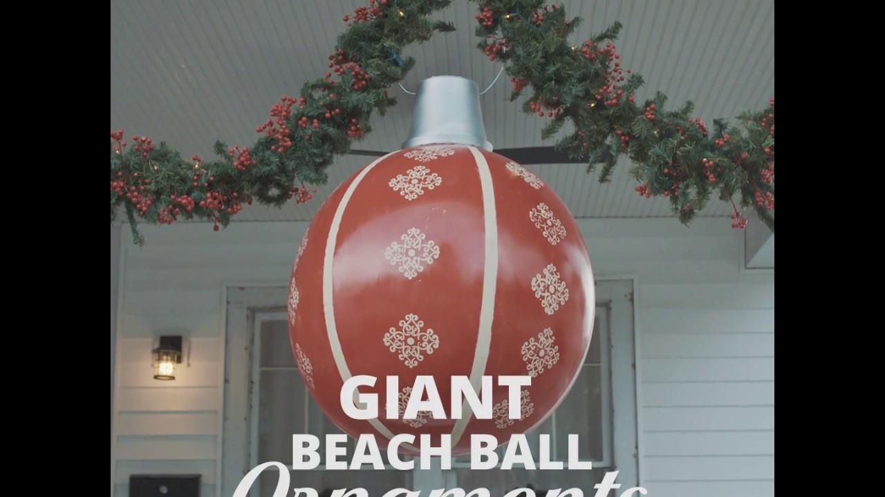 DIY Huge Ball Christmas Ornaments  DIY Giant Beach Ball Ornament