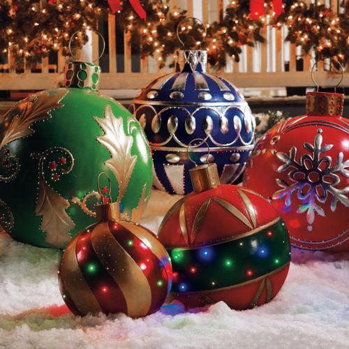 DIY Huge Ball Christmas Ornaments  Giant Christmas Ornaments s and for
