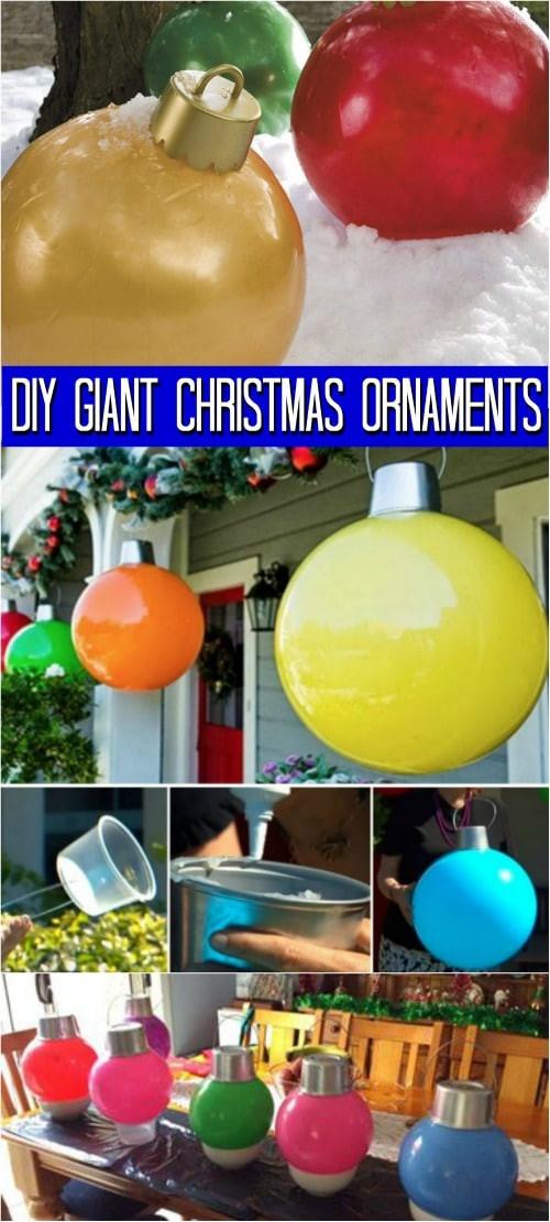 DIY Huge Ball Christmas Ornaments  How to Make Your Own Giant Christmas Ornaments DIY & Crafts