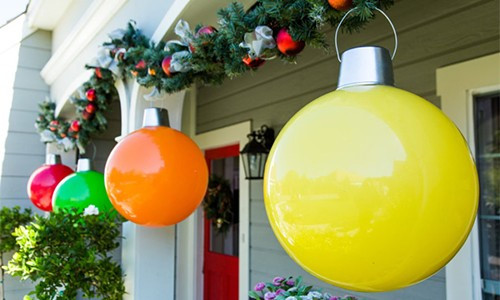DIY Huge Ball Christmas Ornaments  Giant Ornament with Tanya Memme Home & Family