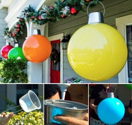 DIY Huge Ball Christmas Ornaments  How To Make Giant Christmas Ornaments s