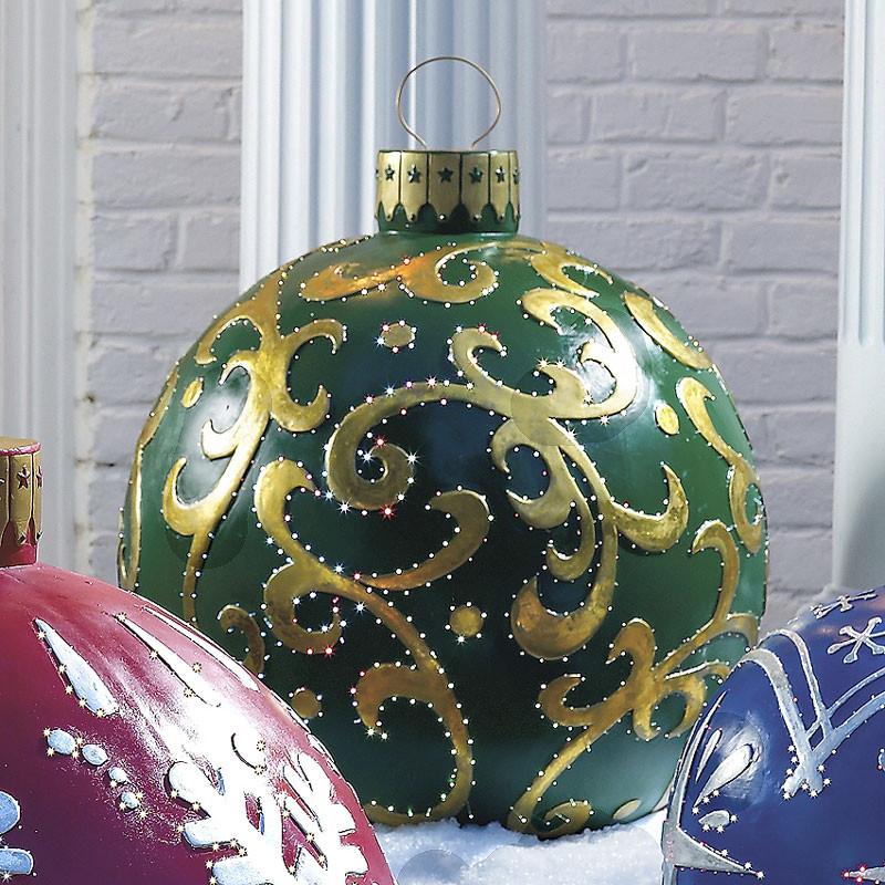 DIY Huge Ball Christmas Ornaments  Massive Outdoor Lighted Christmas Ornaments
