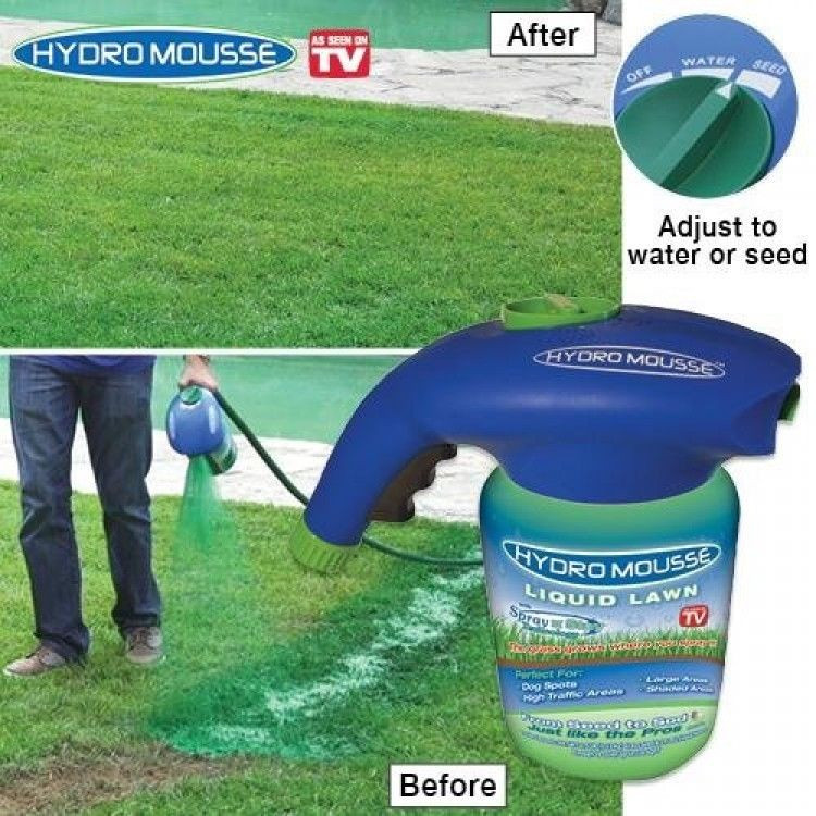 Best ideas about DIY Hydroseeding Kit . Save or Pin Hydro Mousse Liquid Lawn New Free Shipping Now.