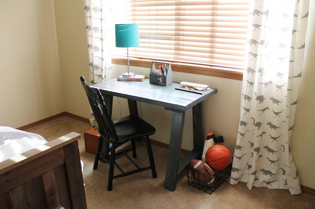 Best ideas about DIY Kids Desk Plans . Save or Pin Ana White DIY Desk Dinosaur Boys Bedroom Now.
