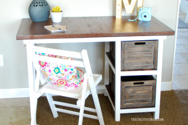 Best ideas about DIY Kids Desk Plans . Save or Pin DIY Farmhouse Desk free building plans The Creative Mom Now.