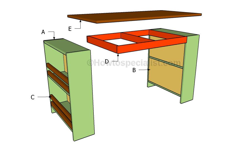 Best ideas about DIY Kids Desk Plans . Save or Pin Kids desk plans Now.