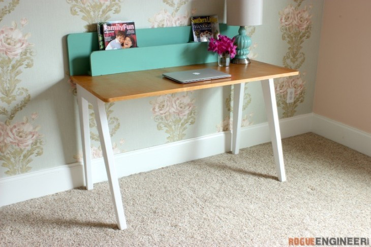 Best ideas about DIY Kids Desk Plans . Save or Pin Modern Desk w Organizer Free DIY Plans  Rogue Engineer Now.