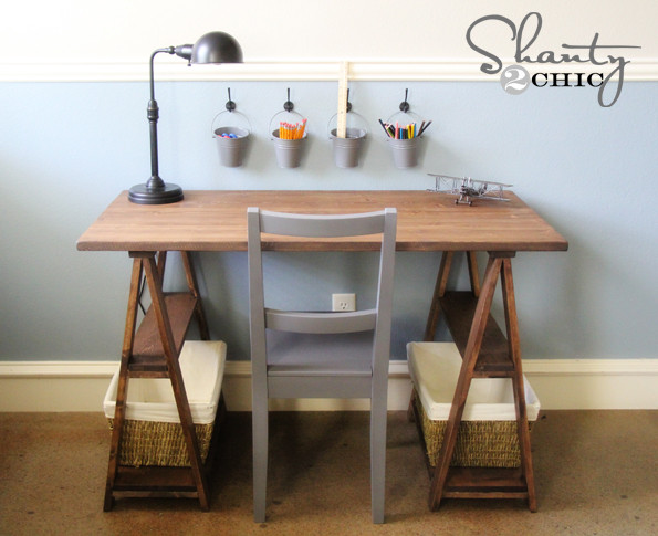 Best ideas about DIY Kids Desk Plans . Save or Pin Restoration Hardware DIY Desk Shanty 2 Chic Now.