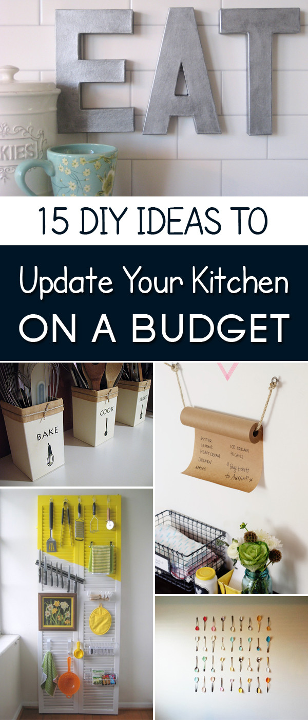 Best ideas about Diy Kitchen Ideas On A Budget . Save or Pin 15 Easy DIY Ideas to Update Your Kitchen on a Bud Now.