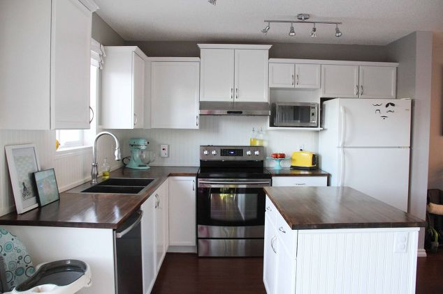 Best ideas about Diy Kitchen Ideas On A Budget . Save or Pin A Bright Modern Kitchen Under $500 Now.