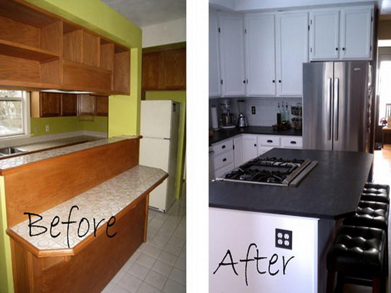 Best ideas about Diy Kitchen Ideas On A Budget . Save or Pin DIY Kitchen Remodel Ideas on a Bud Before and After Now.