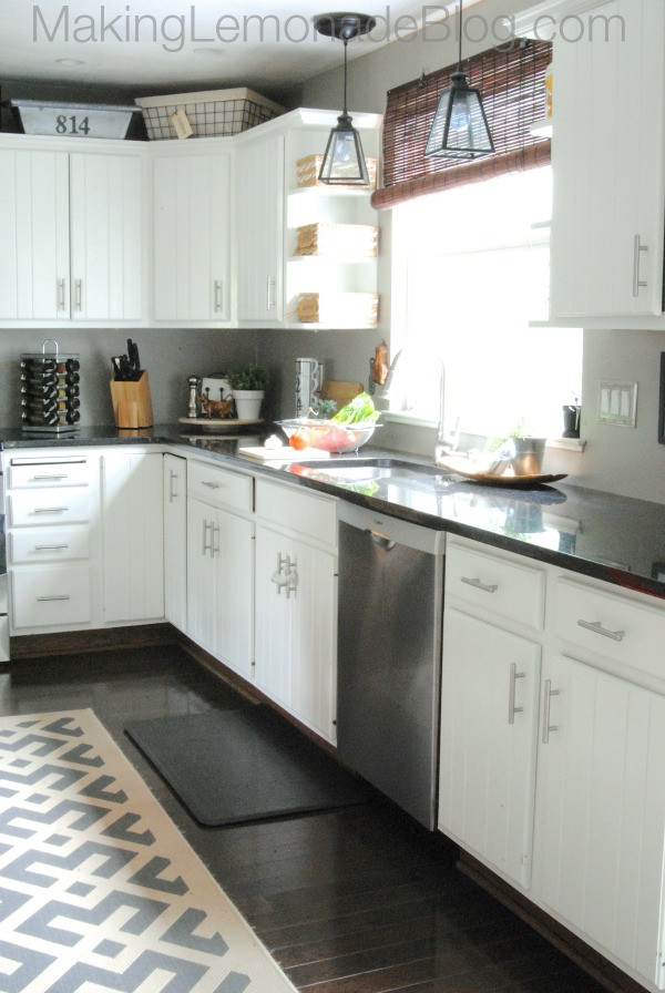 Best ideas about Diy Kitchen Ideas On A Budget . Save or Pin Bud Friendly Modern White Kitchen Renovation Home Tour Now.
