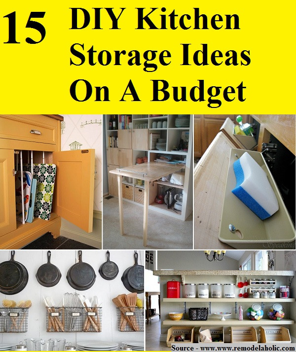 Best ideas about Diy Kitchen Ideas On A Budget . Save or Pin 15 DIY Kitchen Storage Ideas A Bud HOME and LIFE TIPS Now.
