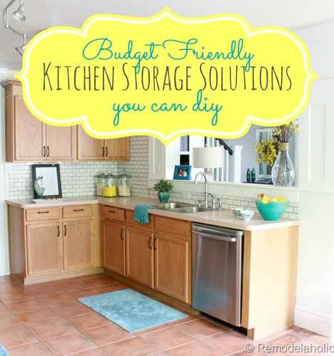 Best ideas about Diy Kitchen Ideas On A Budget . Save or Pin Great Bud Kitchen Storage Ideas Now.