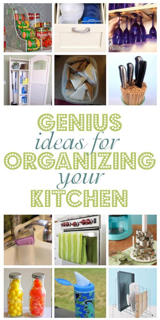 Best ideas about DIY Kitchen Organization Ideas . Save or Pin Genius Ideas For Organizing Your Kitchen Now.