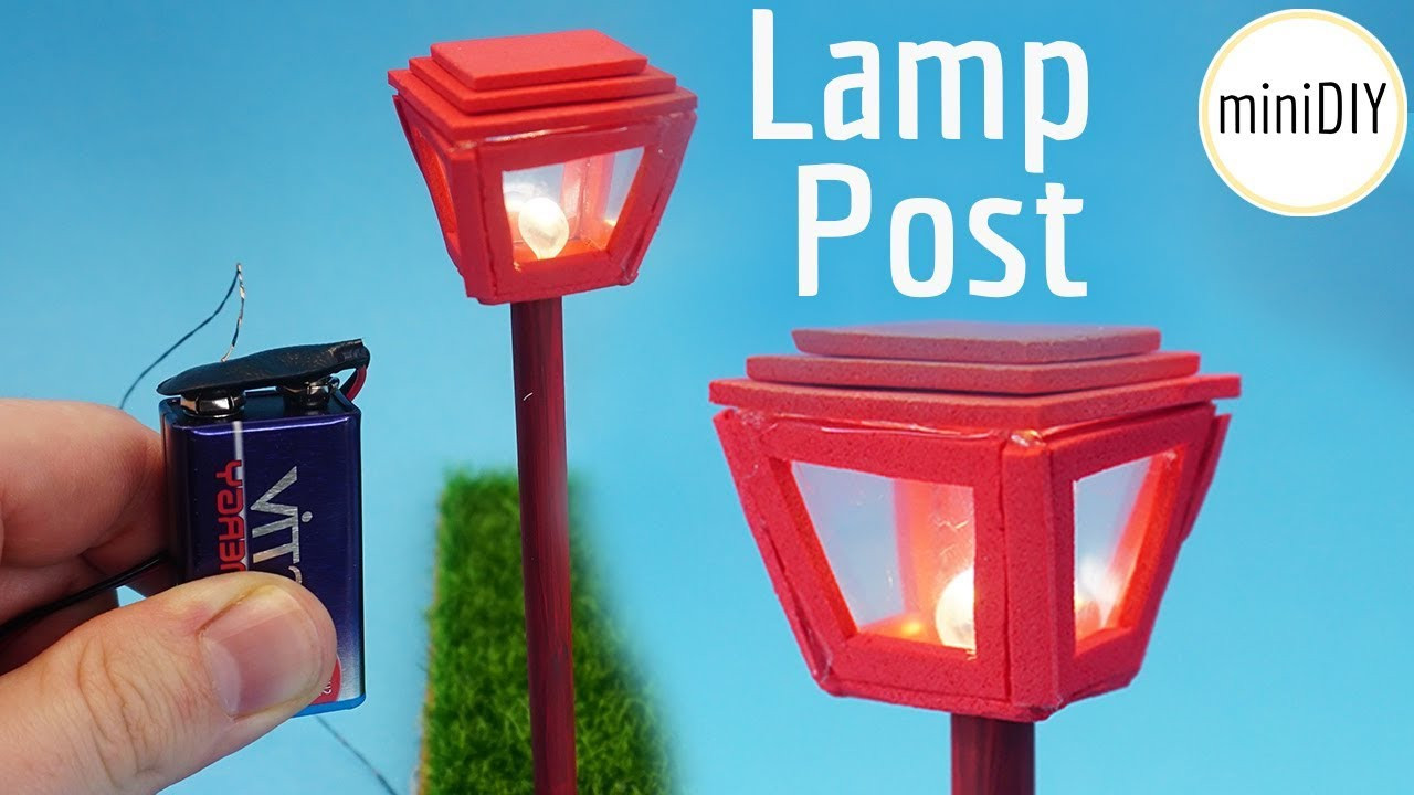 Best ideas about DIY Lamp Post . Save or Pin DIY Miniature Lamp Post Now.