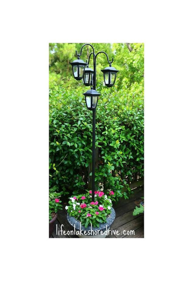 Best ideas about DIY Lamp Post . Save or Pin Easy DIY Solar Lights Lamp Post With Flower Planter Now.
