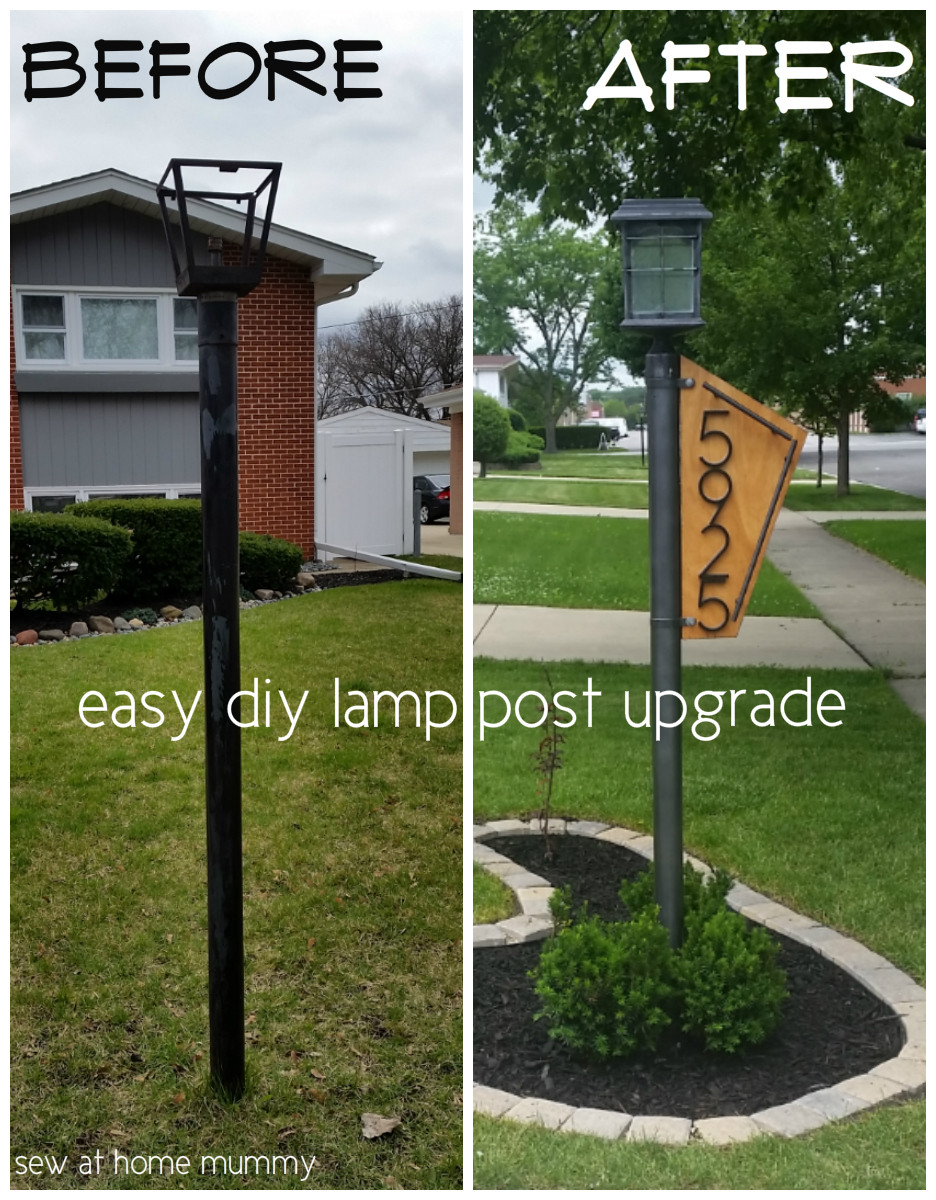 Best ideas about DIY Lamp Post . Save or Pin Sew at Home Mummy Easy DIY Gas or Electric Lamp Post Now.