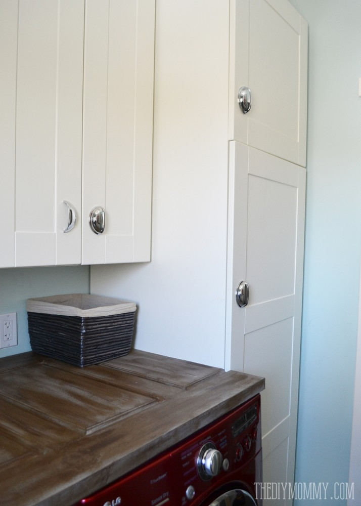 Best ideas about Diy Laundry Room Ideas . Save or Pin A Vintage Inspired Red & Aqua Laundry Room Video Tour Now.