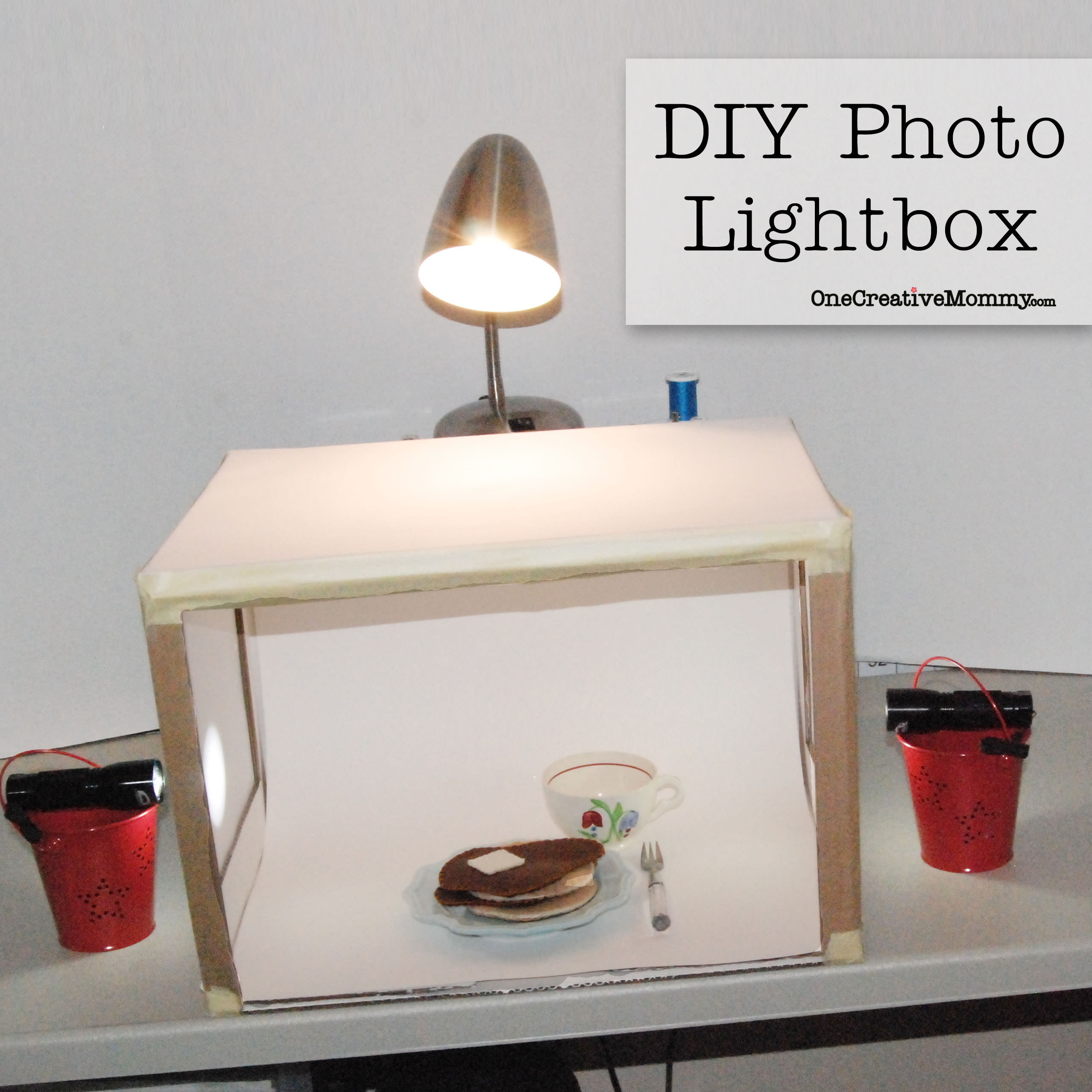 DIY Light Box Photography  Grow Your Blog Series DIY Lightbox onecreativemommy