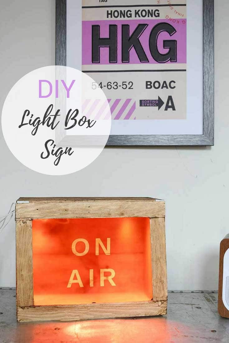 Best ideas about DIY Light Box Sign . Save or Pin Simple And Fun To Make DIY Light Box Sign Pillar Box Blue Now.