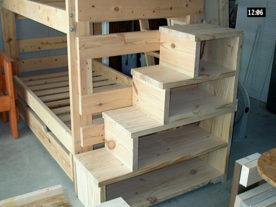 Best ideas about DIY Loft Bed With Stairs . Save or Pin Plans For Bunk Beds With Stairs DIY Woodworking Projects Now.