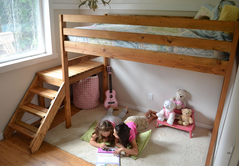 Best ideas about DIY Loft Bed With Stairs . Save or Pin REHOBOTH FARM Building a Loft Bed with Stairs A DIY Now.