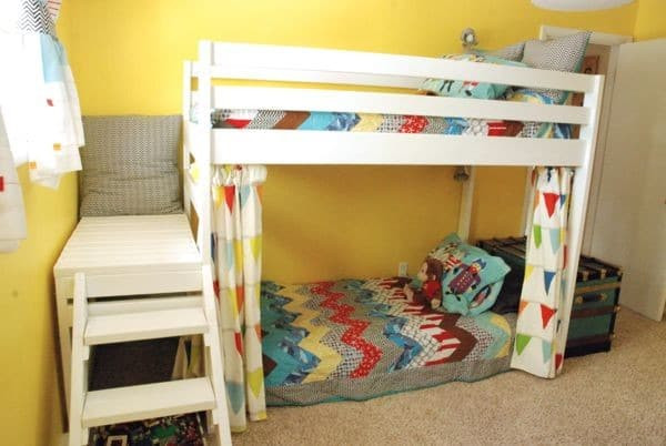 Best ideas about DIY Loft Bed With Stairs . Save or Pin DIY Kids Loft Bunk Bed with Stairs Now.