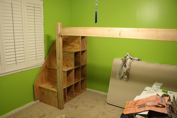 Best ideas about DIY Loft Bed With Stairs . Save or Pin diy loft bed with stairs Now.