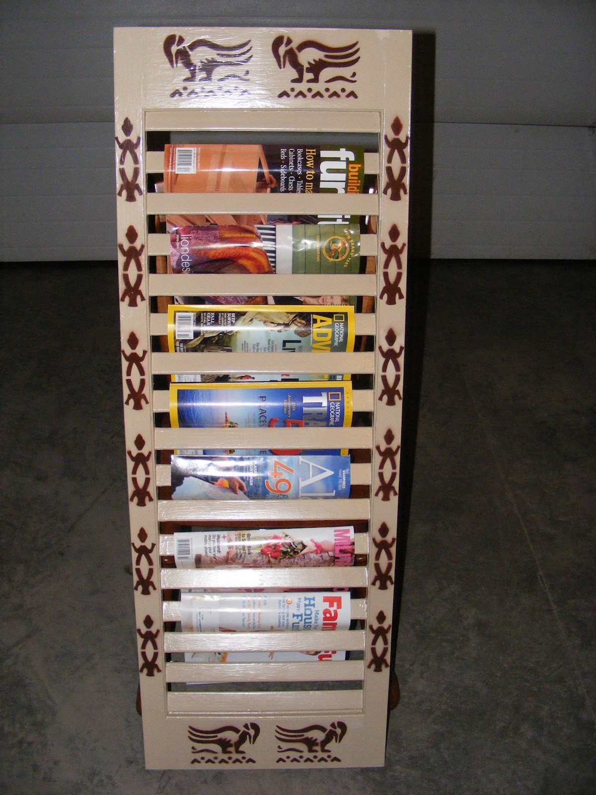 Best ideas about DIY Magazine Rack . Save or Pin Arctic Lily s Loops DIY Magazine Rack Now.