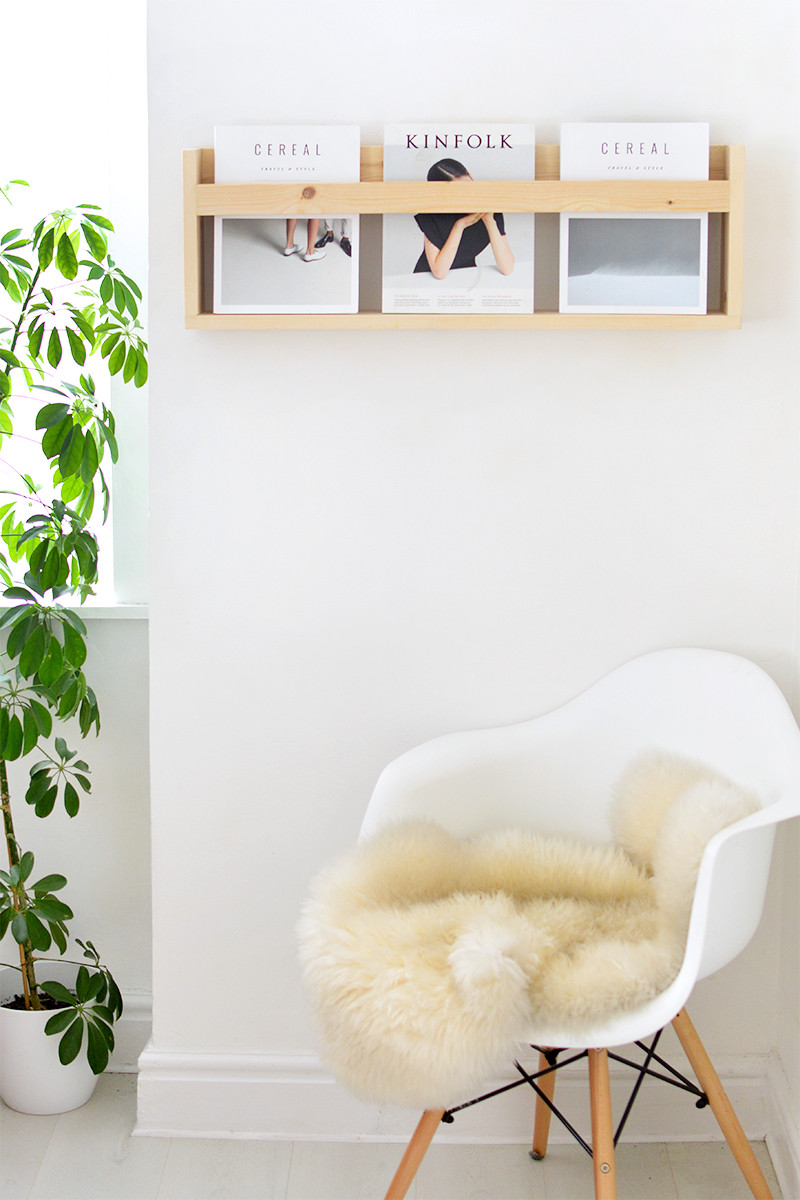 Best ideas about DIY Magazine Rack . Save or Pin DIY modern magazine shelf Now.