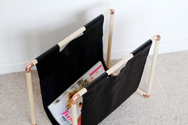 Best ideas about DIY Magazine Rack . Save or Pin DIY Copper Pine Magazine Rack Now.