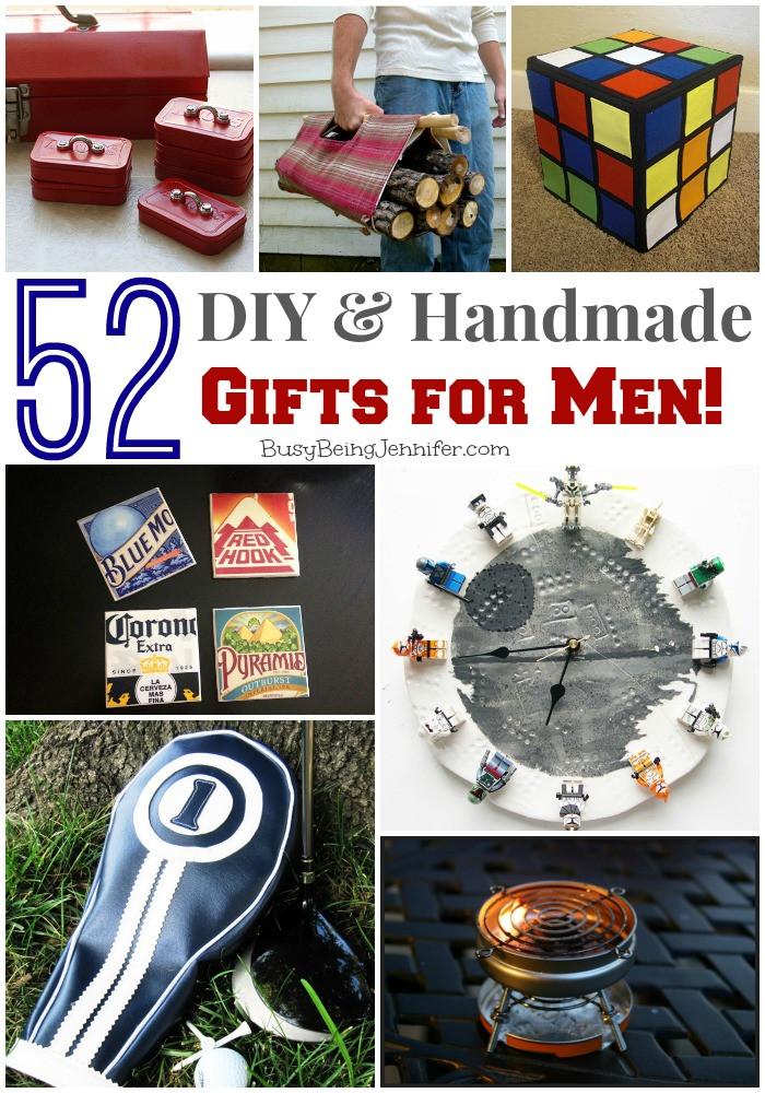 DIY Man Gifts  52 DIY Gifts for Men Busy Being Jennifer