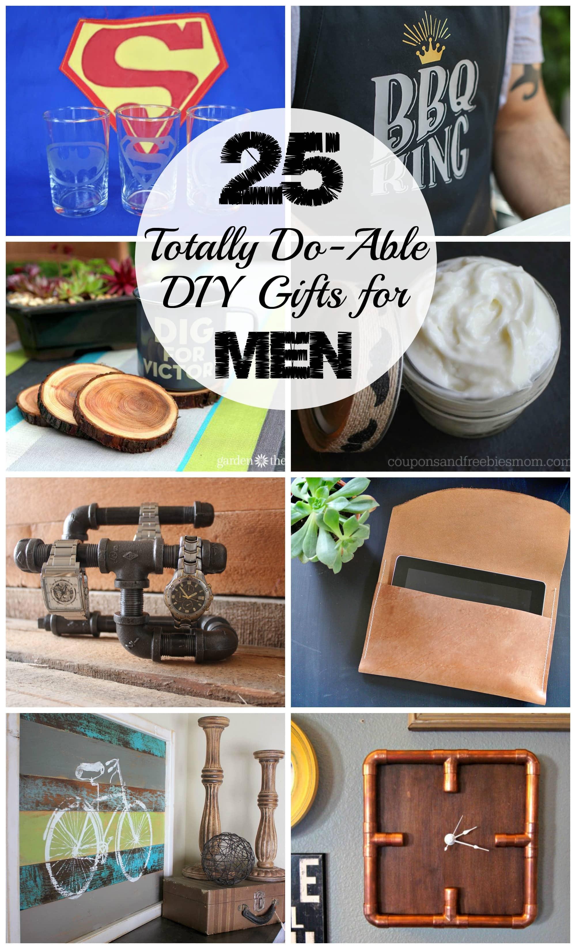 DIY Man Gifts  25 DIY Gifts for Men Love Create Celebrate
