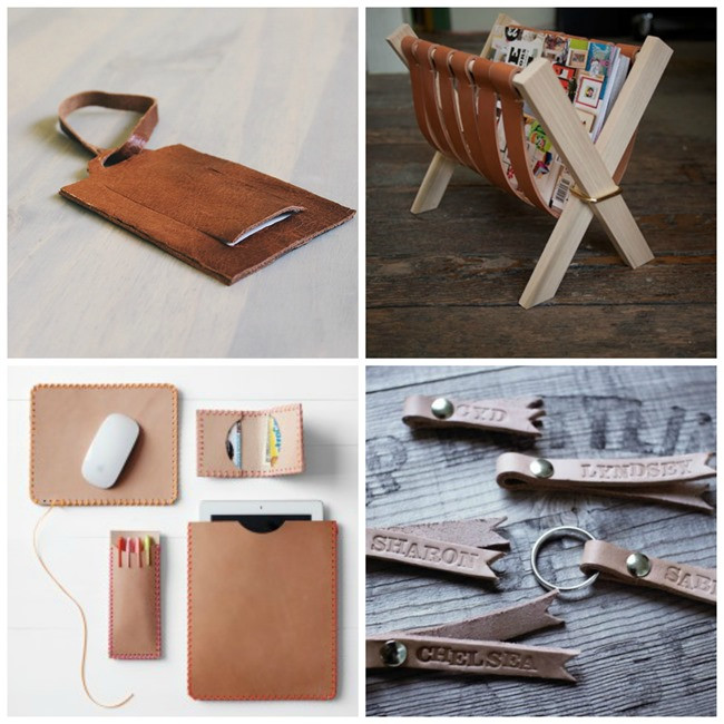DIY Man Gifts  25 DIY Leather Gifts for Men