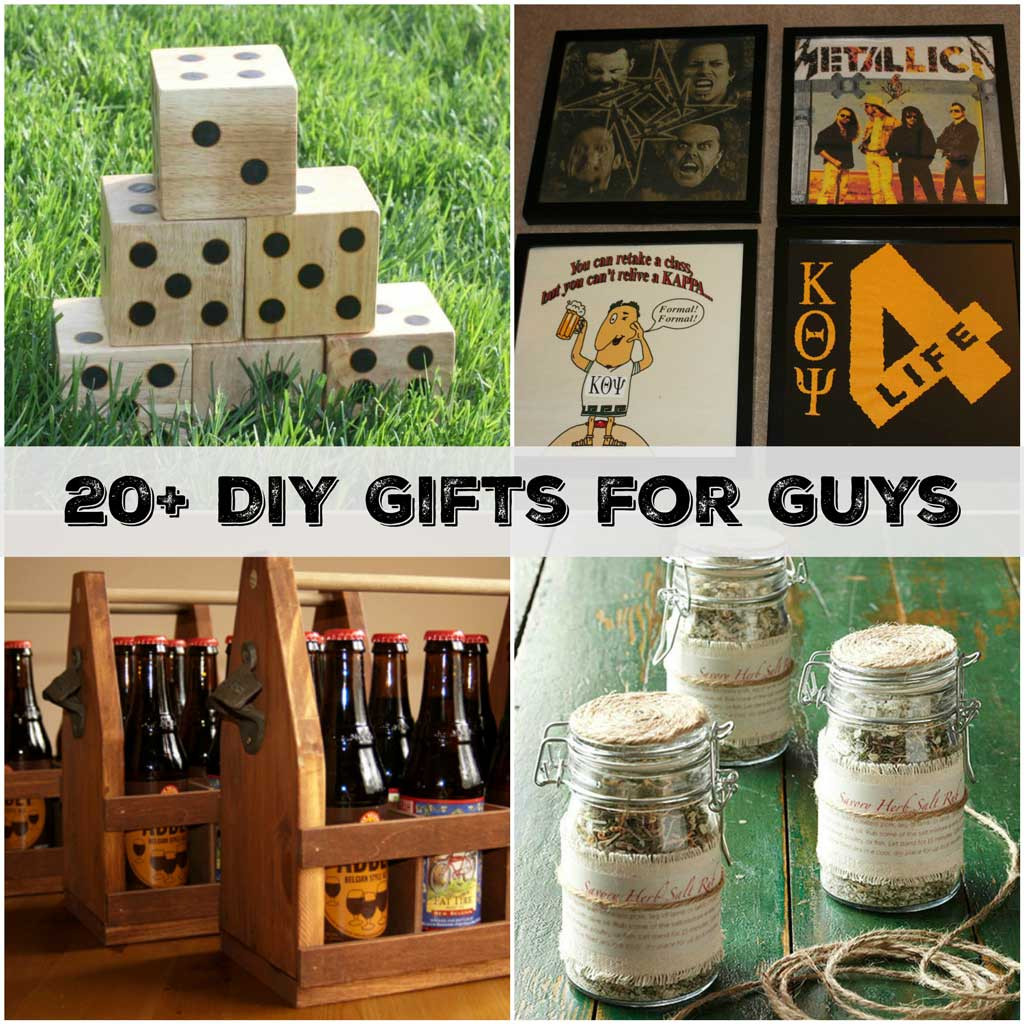 DIY Man Gifts  20 Handmade Gifts Guys will Actually Like Sometimes