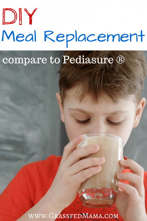 """Best ideas about DIY Meal Replacement Shakes . Save or Pin DIY Meal Replacement Shakes like """"Pediasure """" Grassfed Mama Now."""