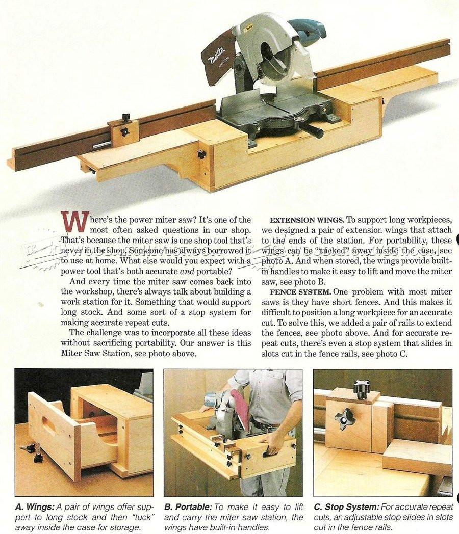 DIY Miter Saw Table  DIY Portable Miter Saw Stand • WoodArchivist