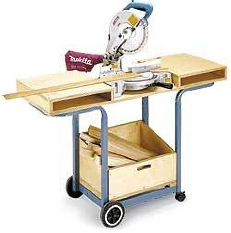 DIY Miter Saw Table  6 DIY Space Saving Miter Saw Stand Plans for a Small Workshop